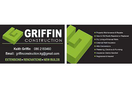 Griffin Construction Business Card