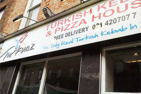 Turkish Kebab PVC raised and vinyl letters