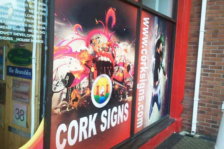 Cork Signs Window Graphics