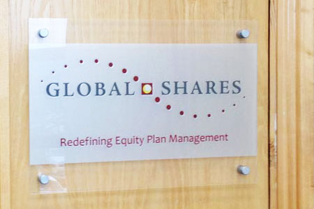 Global Shares Perspex Door Plaque