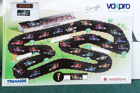 Metal Board with Magnetic Cars