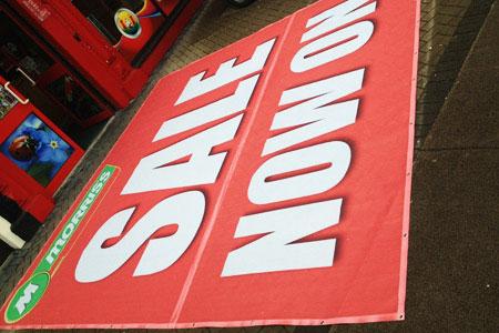 Mesh banner sale sign