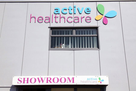 Active Healthcare raised letters