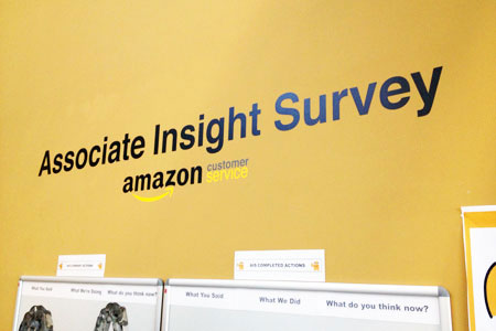 Amazon Insight Survey wall vinyl banner