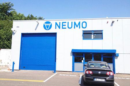 Neumo raised letters