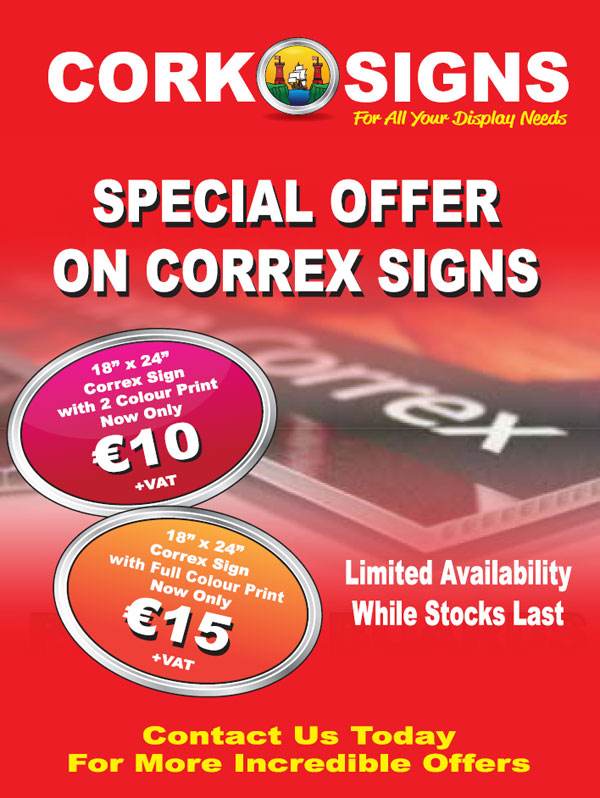 Special offer on Correx signs